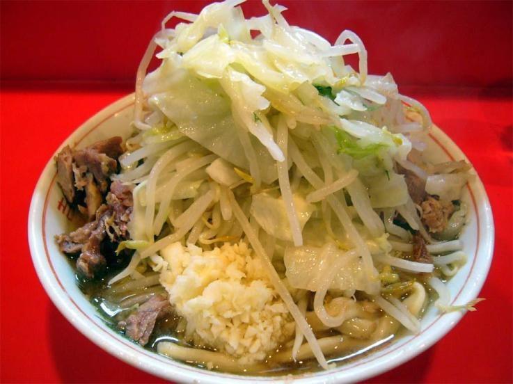 Ramen Jiro has a cult-like following in Japan. It's known for its insane portion sizes, fatty broth, and heaping toppings of pork belly, garlic, and vegetables. I never got to try it, but I did go to school right near its original location in Mita!